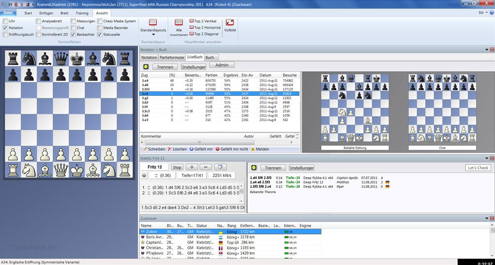 لعبة الشطرنج الرهيبة لعشاق العاب الذكاء Fritz 13-RELOADED بمساحة 3.93 GB Fritz13Screen